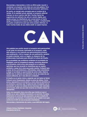 CAN #1 - Revista sobre los alrededores del diseño